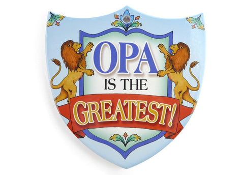 Ceramic Decoration Shield: Opa - GermanGiftOutlet.com - 1