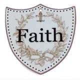 Ceramic Decoration Shield: Faith - GermanGiftOutlet.com  - 1