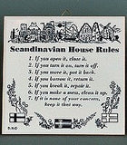 "Danish Gift Idea Tile ""Scandinavian House Rules"" - GermanGiftOutlet.com  - 2"