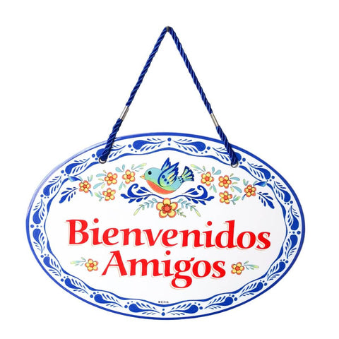 """Bienvenidos Amigos"" Spanish Gift Decorative Door Sign"