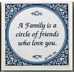 Inspirational Wall Plaque: Family Circle Friends.. - GermanGiftOutlet.com  - 1