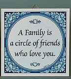 Inspirational Wall Plaque: Family Circle Friends.. - GermanGiftOutlet.com  - 2
