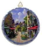 Round Ceramic Plaque: Euro Village - GermanGiftOutlet.com  - 1