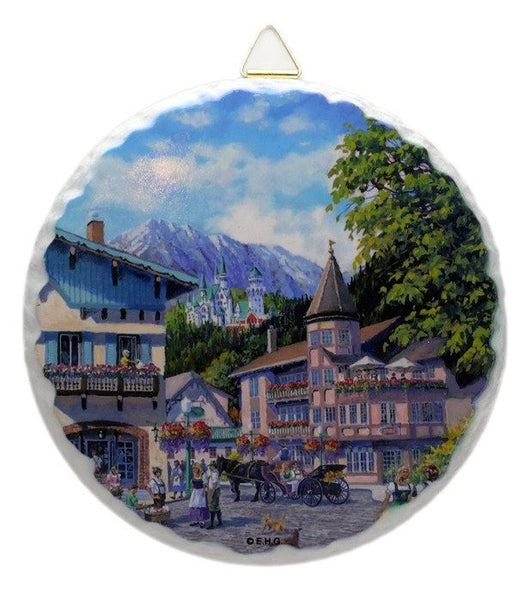 Round Ceramic Plaque: Summer - GermanGiftOutlet.com  - 1