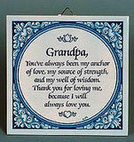 Inspirational Wall Plaque: Grandpa Always Love.. - GermanGiftOutlet.com  - 2