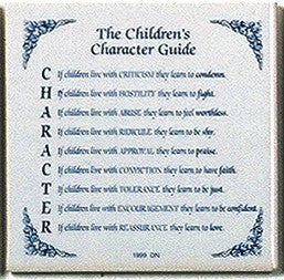 Inspirational Wall Plaque: Children's Character Guide - GermanGiftOutlet.com  - 1