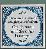 Inspirational Wall Plaque: Give Children Wings.. - GermanGiftOutlet.com  - 2