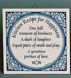 Inspirational Wall Plaque: Kitchen Recipe Tile - GermanGiftOutlet.com  - 2