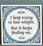 Inspirational Wall Plaque: Trying Lose Weight.. - GermanGiftOutlet.com  - 2