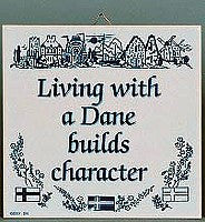 Inspirational Wall Plaque: Living With Dane.. - GermanGiftOutlet.com  - 1