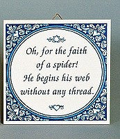 Inspirational Wall Plaque: Faith Of Spider - GermanGiftOutlet.com  - 1