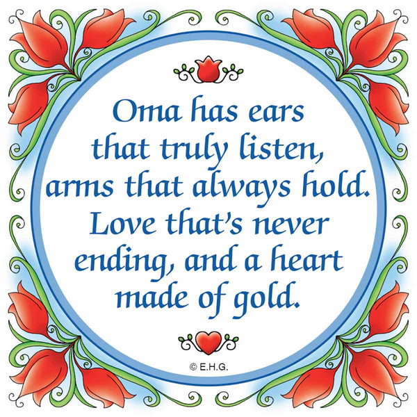 Gift For Oma: Oma Heart of Gold..