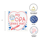 German Opa Gift Plaque: My Opa Loves Me!