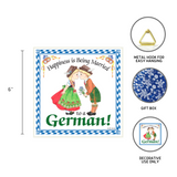 German Gift Wall Plaque Tile: Happy German