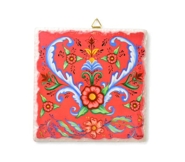 Ceramic Deluxe Plaque: Flowers - GermanGiftOutlet.com - 1
