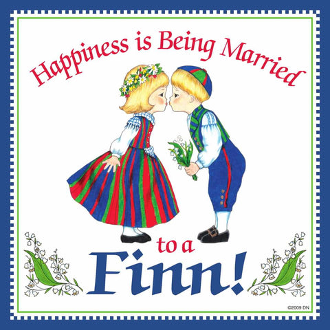 Kitchen Wall Plaques: Happily Married Finn
