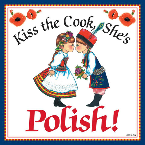 "Polish Gift Tile ""Kiss Polish Cook"""