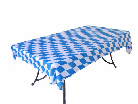 Plastic Oktoberfest Table Cover 54in. x 108in. Pkg/1 - Collectibles, German, Home & Garden, Oktoberfest, PS- Oktoberfest Decorations, PS- Oktoberfest Essentials-All OKT Items, PS- Oktoberfest Table Decor, Tablecloths, TableMate, Tableware