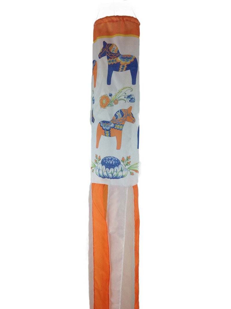 Sweden Wind Sock: Dala Horse - GermanGiftOutlet.com