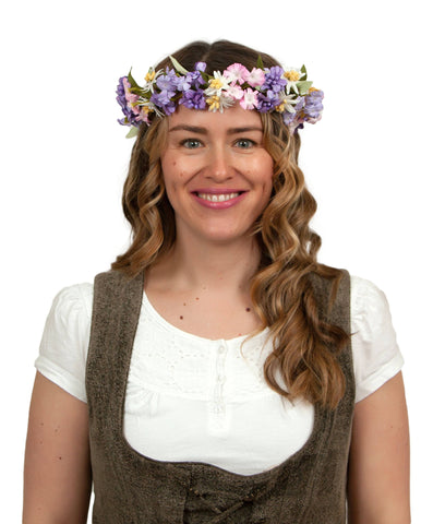 German Costume Garland Princess Flowers - 1 - GermanGiftOutlet.com