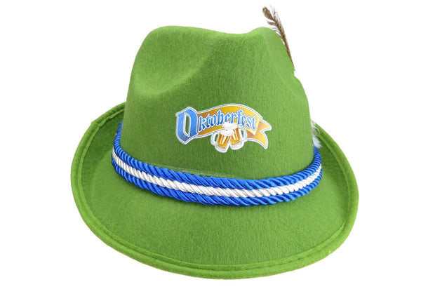 Oktoberfest Logo German Felt Mint Green Fedora - GermanGiftOutlet.com  - 1