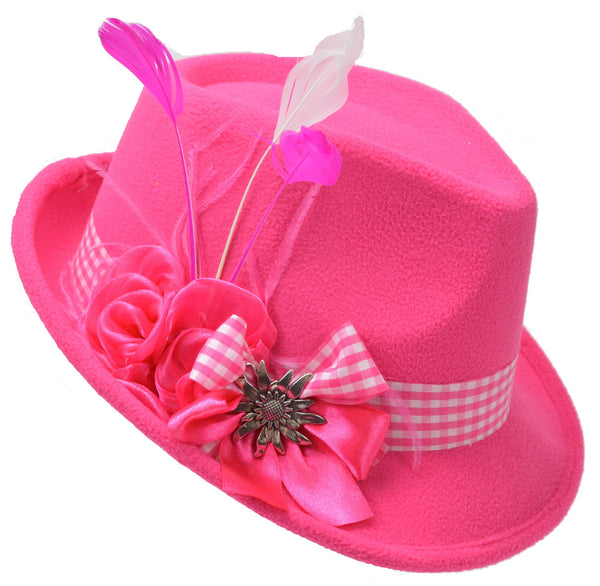 Pink Ladies Edelweiss Hat - GermanGiftOutlet.com  - 1
