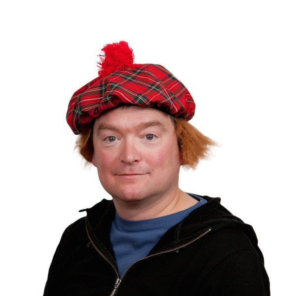 Scottish Hat with Brown Hair Wig - GermanGiftOutlet.com  - 1