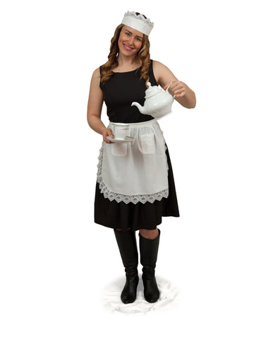 """Maid Costume"" White Lace Headband and Small Lace Apron Costume Set - GermanGiftOutlet.com  - 1"