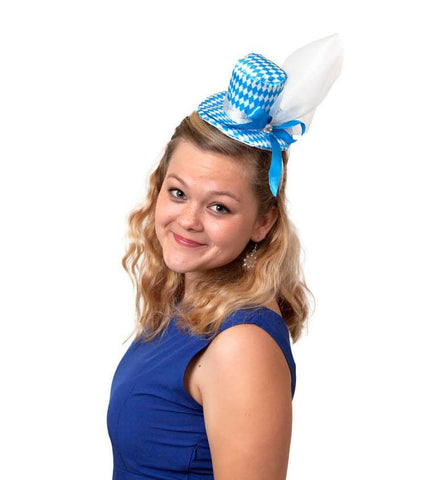 Mini Oktoberfest Party Hat with Bavarian Design - 1 - GermanGiftOutlet.com