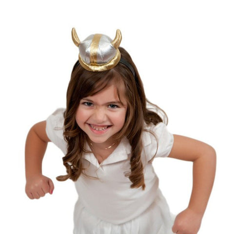 Viking Costume Silver Helmet Headband - GermanGiftOutlet.com