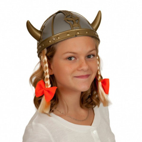 Plastic Female Viking Oktoberfest Hat - GermanGiftOutlet.com  - 1