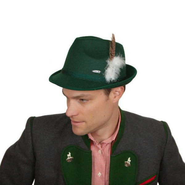 Oktoberfest Costume Hat Green Felt - GermanGiftOutlet.com  - 1