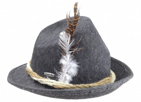 German Fedora Felt Hat Gray - GermanGiftOutlet.com  - 1