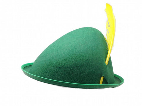 Oktoberfest Party Hat Green with Yellow Feather - GermanGiftOutlet.com  - 1