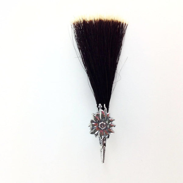 Edelweiss German Hat Pin with Hair Brush - GermanGiftOutlet.com