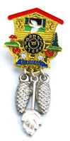 German Hat Pin: Cuckoo Clock - GermanGiftOutlet.com  - 1