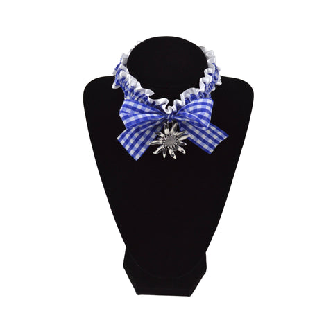 Bavarian Pattern Collar with Edelweiss Pendant -1 - GermanGiftOutlet.com