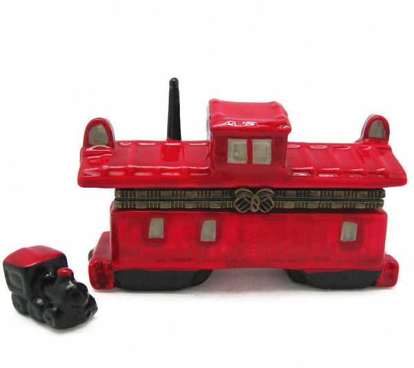 Collectible Train Hinge Box Caboose - GermanGiftOutlet.com  - 1