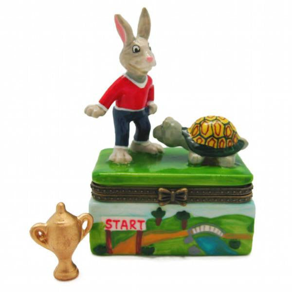 Children's Jewelry Boxes Tortoise and Hare - GermanGiftOutlet.com  - 1