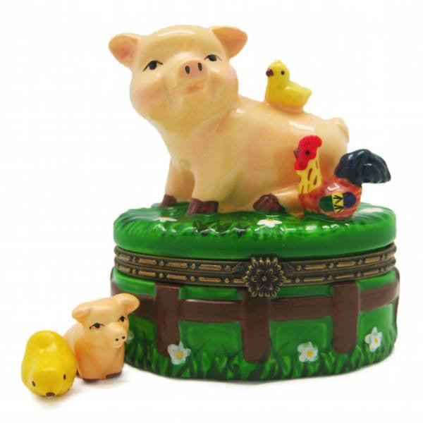 Children's Jewelry Boxes Happy Pig & Chicks - GermanGiftOutlet.com  - 1