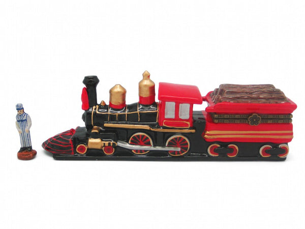 Train Collectibles American Wooden Train Hinge Box - GermanGiftOutlet.com  - 1