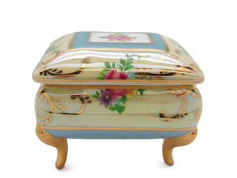 Vintage Victorian Antique Square Jewelry Box Deluxe Gold - GermanGiftOutlet.com  - 1