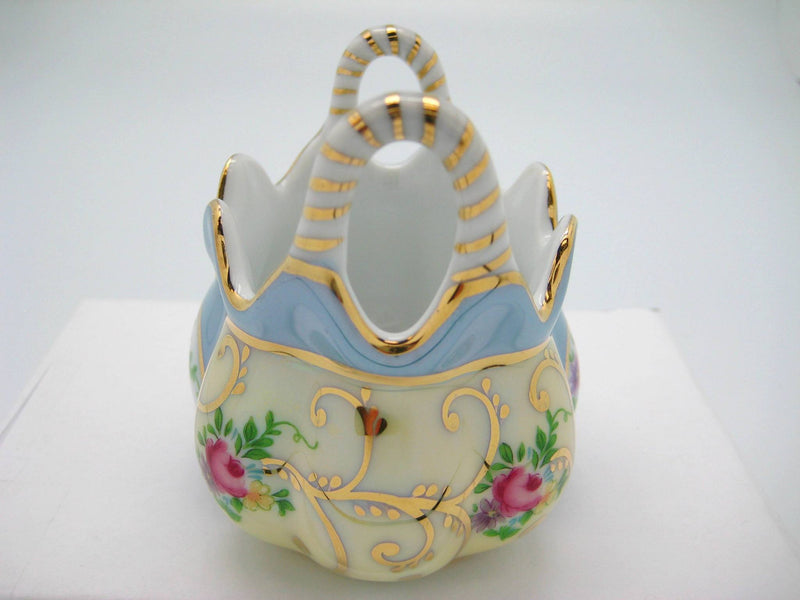 Vintage Victorian Antique Basket Jewelry Box Deluxe Gold - GermanGiftOutlet.com  - 6