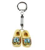Dutch Gift Idea Wooden Shoes Keychain Natural-KE01