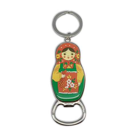 Russian Doll Bottle Opener Keychain-KE01