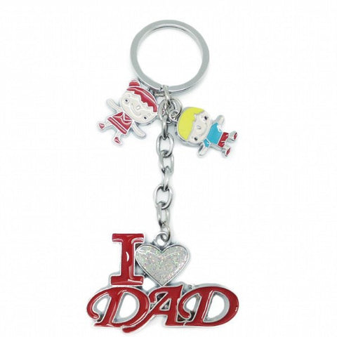 "Dad Gift Key Chain: ""I Love Dad"" - GermanGiftOutlet.com  - 1"