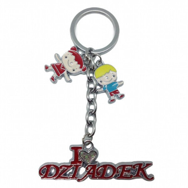 "Polish Gift Idea Dziadek Key Chain: ""I Love Dziadek"" - GermanGiftOutlet.com  - 1"