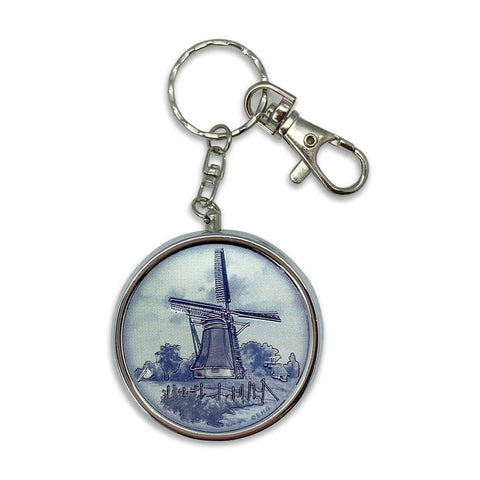 Windmill Metal Round Pill Box Keychain-KE02