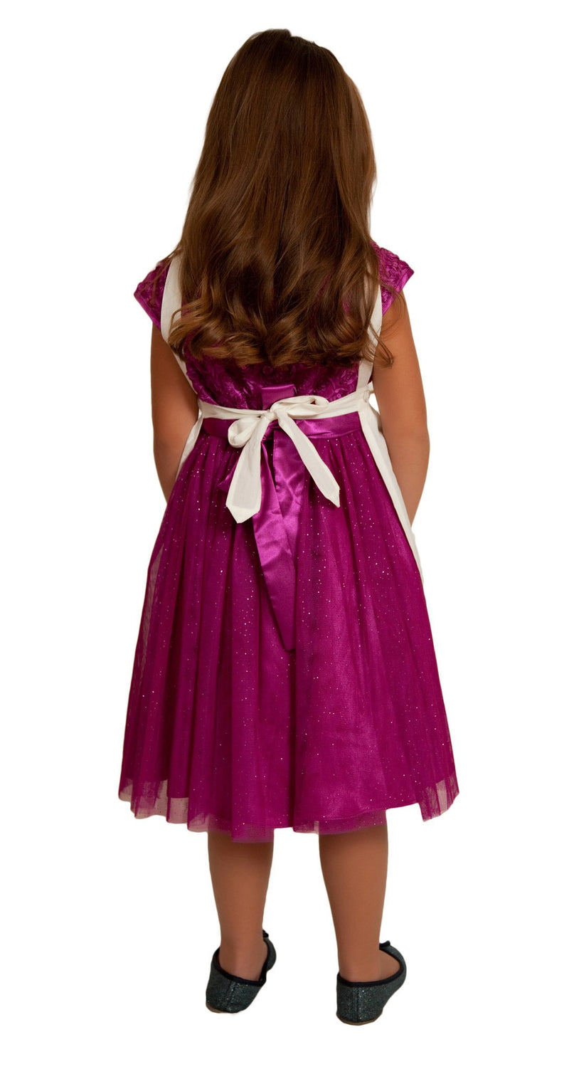 Girls Lace Ecru Full Apron (Ages 2-8) - GermanGiftOutlet.com  - 2