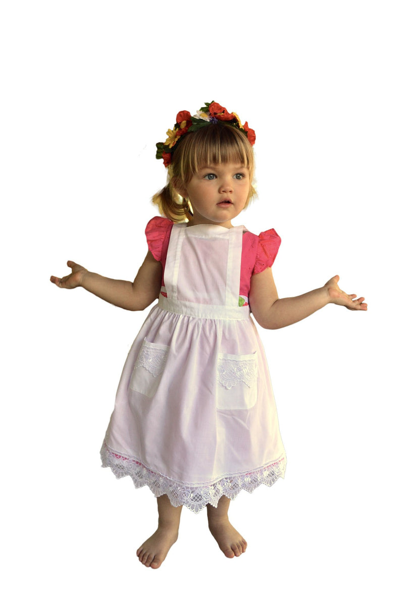 Girls Lace Ecru Full Apron (Ages 2-8) - GermanGiftOutlet.com  - 3